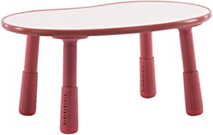 Oureong Kids Desk Children Plastic Home Garden Picnic Table,Adjustable Table to Accompany Children's Happy Growth Student Desk for Kids Homework (Color : Red, Size : 80x55x37cm)