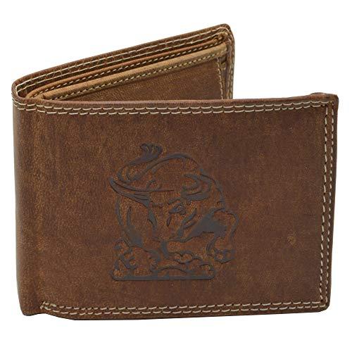 Portemonnee RFID bescherming portemonnee met buffel/stier reliëf