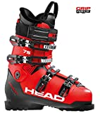 HEAD Unisexe - Chaussures de Ski Adulte ADVANT Edge 75 Rouge/Noir 27,5