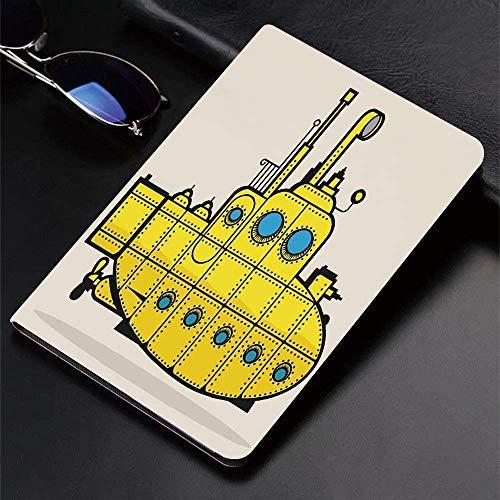Funda para iPad (24.638, modelo 2018/2017, 6.a / 5.a generación) Funda inteligente ultradelgada y ligera, Submarino amarillo, Retro Grunge Artsy Marine Vessel Industrial Náutico Ocean, Fundas intelige