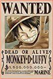 Monkey D. Luffy Wanted - one piece notebook: Great for Journal - Anime Notebooks