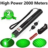 4. Green Light Pointer High Power Visible Beam with Adjustable Focus for Pointing Sky/Star/Hunting/Hiking, LED Interactive Baton Funny Toy for Dog/Cat