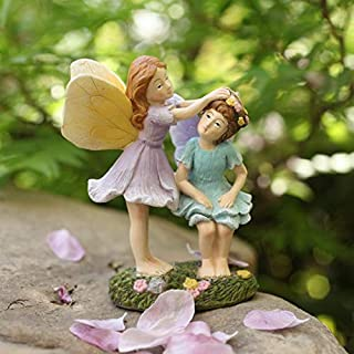 LA JOLIE MUSE Miniature Fairy Garden Sisters - 4 Inch Hand Painted Resin Figurines for Garden Indoor Outdoor Fall Decor Gift