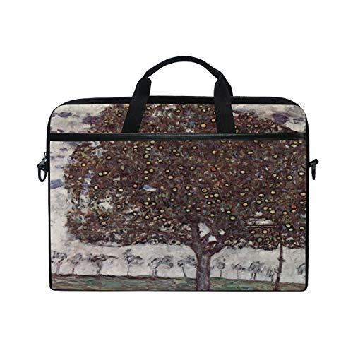 Ahomy 13.3-14 Inch Laptop Bag, Fruit Tree Gustav Klimt Multifunctional Fabric Waterproof Laptop Case Briefcase With Shoulder Strap