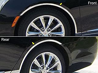 QAA fits 2013-2017 Cadillac XTS (4 Piece Stainless Wheel Well Accent Trim) WQ53245