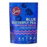 Suncore Foods – Premium Blue Butterfly Pea Supercolor Powder, 3.5oz each (1 Pack) – Natural Butterfly Pea Flower Food Coloring Powder, Plant Based, Vegan, Gluten Free, Non-GMO