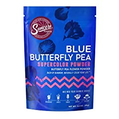 Suncore Foods Butterfly Pea Flower Powder - 3.5oz each Gluten Free | Non-GMO | No Preservatives | No Added Sugar Suncore Foods Blue Butterfly Pea Flower Powder is great for mixing into your favorite drinks, smoothies, and baked goods. Bring on the bo...