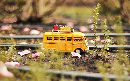 Puzzels 1000 stukjes voor volwassenen Kinderen Mini Tourbus Landschap Houten geschenken voor kinderen Puzzel Decompressie Decoupeerzagen