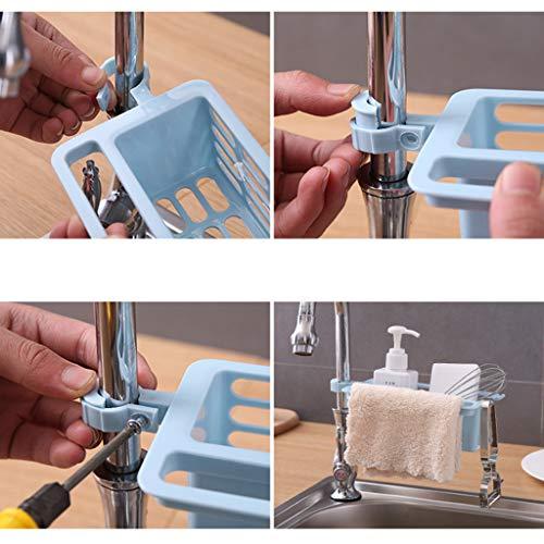 /éponge de salle de bain support de rangement /à ventouse brosse white savon S/&G Top Porte-/éponge pour /évier de cuisine /étag/ère pour savon accessoires de lavage /à la vaisselle