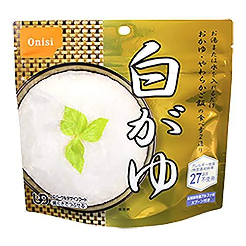 尾西食品 アルファ米白がゆ1食分×10個セット