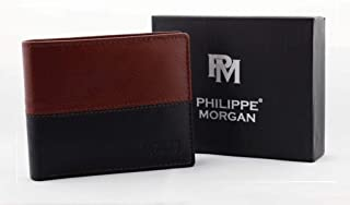 PHILIPPE MORGAN Brown Leather For Men - Bifold Wallets