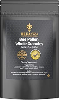 Bee and You Bee Pollen Granules   100% Pure, Natural Bee Pollen - Antioxidants, Proteins, Vitamins Amino Acids and More   ...