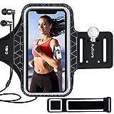 Autkors Brazalete Deportivo para Correr 6.1 Pulgadas, Ajustable Brazalete Movil Deportivo con Banda Reflectante Prueba de Sudor Ideal para iPhone 12/12 Pro/11 Pro/Phone XS, Xiaomi, Huawei