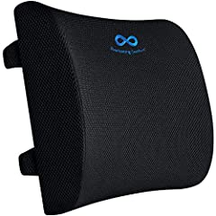 BACK SUPPORT FOR OFFICE CHAIR - Our pure memory foam back support cushion is made from the same material as the world's leading memory foam products. Our lumbar support is one of the essential work from home accessories for increasing comfort while w...