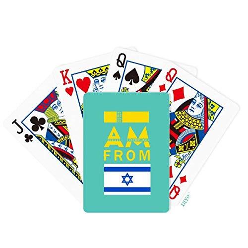 OFFbb-USA I Am from Israel Poker Jugando Cartas Juego de Mesa