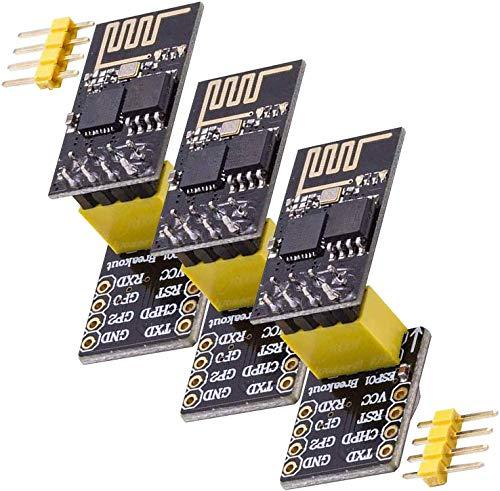 AZDelivery 3 x esp8266 01 esp-01 Wlan WiFi Modul mit Breadboardadapter für Arduino mit gratis eBook!