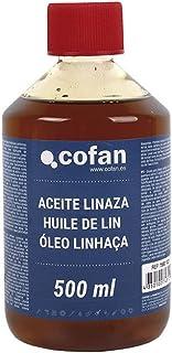 Aceite Linaza Cofan | Envase 500 ml | Ideal para Maderas Exteriores-Interiores