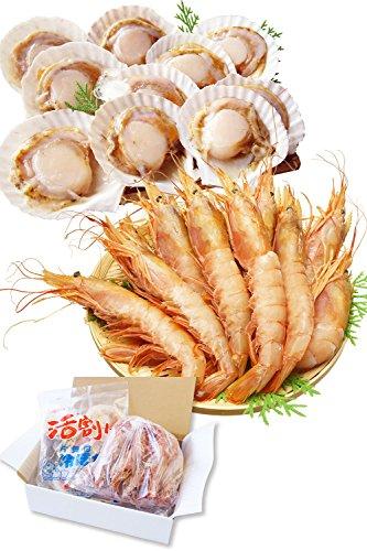 海鮮 詰め合せ 2種 セット 片貝 ほたて 10枚・赤 えび 10尾【冷凍】 バーベキューセット 海鮮セット bbq バーベキュー ホタテ 越前宝や