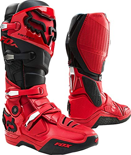 FOX Instinct Stivali Motocross Rosso/Nero 8