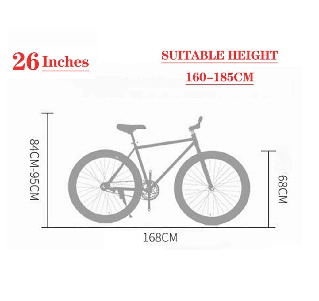 lqgpsx Bicicleta de Carretera, Bicicletas de 26 Pulgadas, Freno de ...