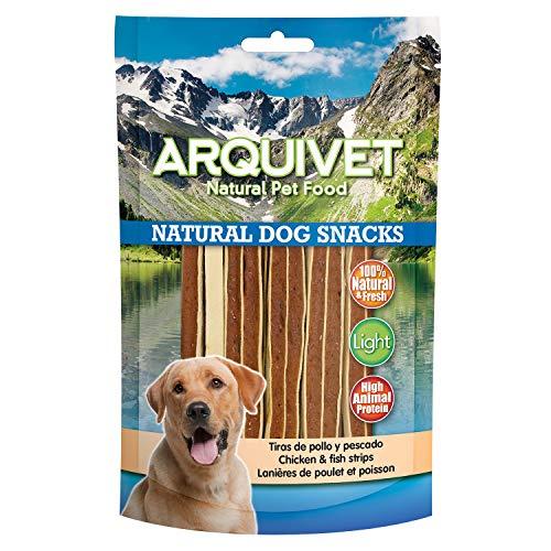 Arquivet Tiras de pollo y pescado - Natural Dog Snacks - Snacks perro - 100 g