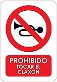 Oedim Señal PVC Prohibido Tocar el claxon Tamaño A4 (29,7x21cm) Material PVC Resistente