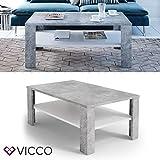 VICCO Couchtisch Beton Weiß 100 x 60 cm Wohnzimmertisch Beistelltisch Sofatisch Kaffeetisch - 2