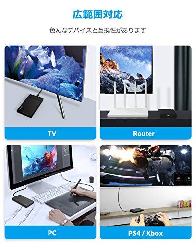 ORICO 2,5'' USB C Externes Festplattengehäuse, USB 3.1 Gen 2 auf SATA III bis zu 6 Gbps Festplatten gehäuse für 2.5 Zoll 9.5mm 7mm SATA SSD/HDD für PC, Laptop, TV, PS4, Xbox, Router, Werkzeugfreier