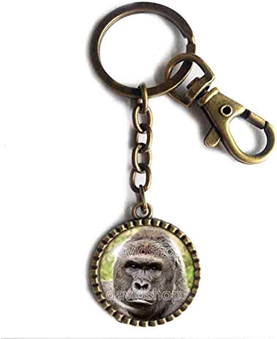 Handmade Poster Photo Symbol Harambe Gorilla Keychain Key Chain Key Ring Cute Keyring Car Cosplay Charm Art Cute