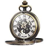 Manchda Reloj De Bolsillo Grabado Personalizado Reloj Mecánico Fobwatch para Papá Marido Hijo Día del Padre Graduación Dejar Regalo Cumpleaños Mejor Hombre Padrino De Boda Regalos