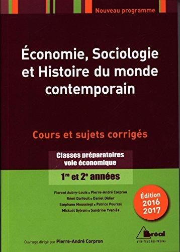 Economie sociologie et histoire du monde contemporain
