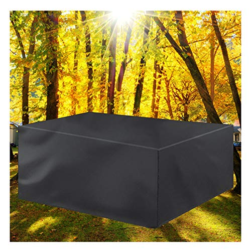 LITINGFC Garden Furniture Covers,Rectangular Patio Rattan Furniture Covers,Shade Waterproof Windproof,for Outdoor Patio Table Cover (Color : Black, Size : 213x132x74cm)