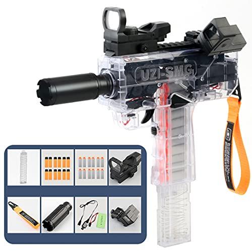UZI Pistola De Bala Suave De Ráfaga Eléctrica De Alta Velocidad EVA Pistola De Batalla De Huevo Suave Pistola De Juguete Recargable Para Niños Pistola De Juguete Interactiva Para Padres E Hijo