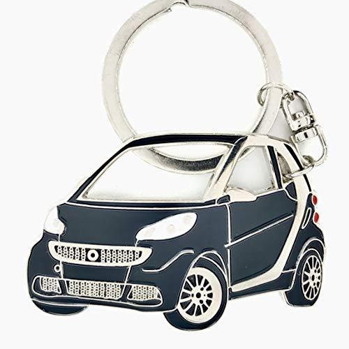 Smart Fortwo Keychain Metal Enamel car accessorie Key fob Keyring (Black)