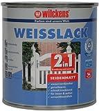 Wilckens 2-in-1 Weisslack seidenmatt, 750 ml, weiß 12491100050