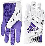 adidas Adizero 11 Football Receiver Glove, White/Purple, Medium