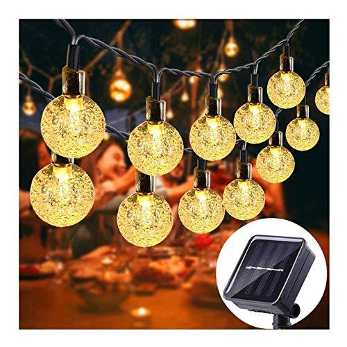 La secuencia solar Luces al aire libre Jardín Luz de Navidad a prueba de agua 8 Modos de la bola de cristal decoración de vacaciones de iluminación utilizadas for Terrace familiares Tardes luces, blan