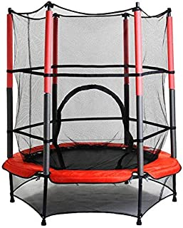 Round Trampoline With Safety Enclosure Net - 55 Inches
