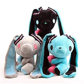 3Pcs/Set 7inch Hatsunee Miku Gloomy Bear Bunny Plush Gloomy Bunny Soft Stuffed Animals Baby Doll Toys Home Decorations Anime Kawaii Lovely Kids Birthday Gifts