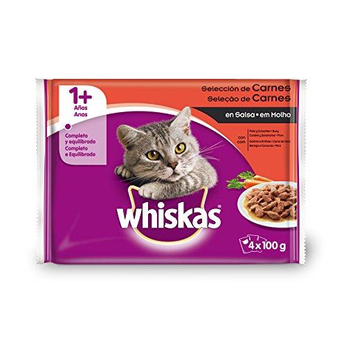 Whiskas Selección Carne, 4 x 100g