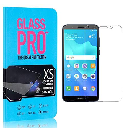 GIMTON Displayschutzfolie für Huawei Y5 2018, 9H Härte HD Schutzfolie aus Gehärtetem Glas für Huawei Y5 2018, Blasenfrei, Anti Fingerabdruck, 3 Stück