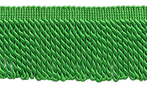 DÉCOPRO 10 Yard Value Pack / 2.5 Inch Bullion Fringe Trim/Style# EF25 Color: Kelly Green - 182/30 Ft / 9.5 Meters