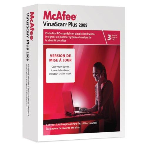 McAfee virus scan plus 2009 (3 postes, 1 an) - mise à jour