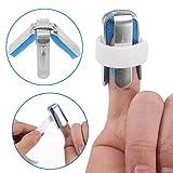 4-seitige Finger Schienen, 1 Paar Recovery Injury Pain Bending Deformation Fixierung Finger Korrekturschiene mit integriertem Aluminium Unterstützung gepolstert(L) -