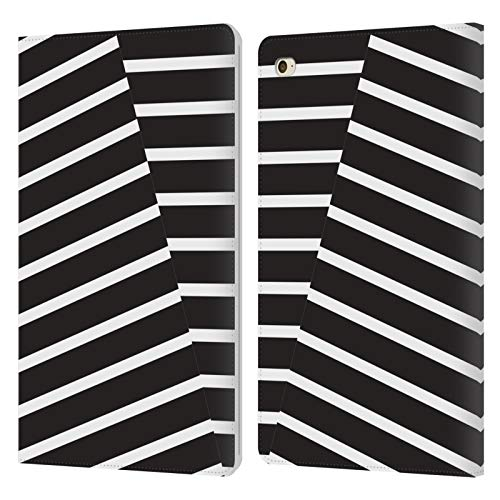 Head Case Designs Officially Licensed The Native State Black Stripes Graphics Leather Book Wallet Case Cover Compatible With Apple iPad mini 4