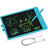 LCD Writing Tablet Kids Toys for Girls Boys 2 3 4 5 6 7-12 Year Old 2021 Upgraded 10 inch Rechargeable HD Colorful Screen Doodle Board Adults Toddlers Birthday Gifts Educational Learning Toy (Blue)