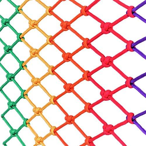 Decoratief Net Veiligheidsnet Voor Kinderen - Binnen Balkon Plafonddecor, Patio's Anti-kat Isolatie Tuin Antibotsing Versterkt Elastisch Touwnet Veelkleurig Optioneel (Size : 2 * 3M)