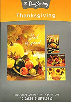 Dayspring Gather at The Table-12 Boxed Thanksgiving Cards Multi