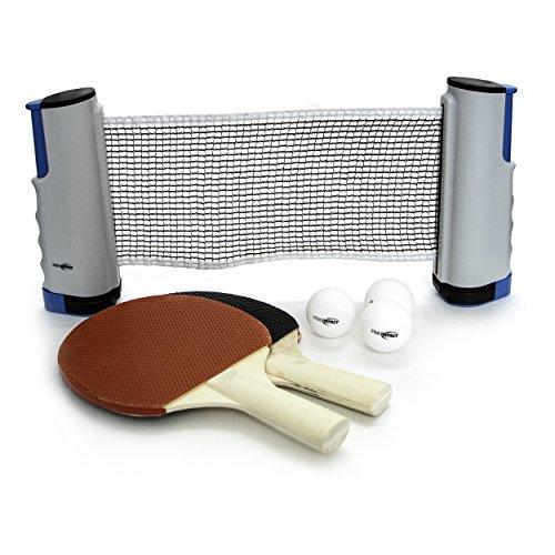 Pro Impact Table Tennis Ping Pong Sets Paddles, net, Balls and Cover (2 Paddle Bats, 3 Balls, Portable Net, Mesh Bag)