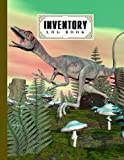 """Inventory Log Book: inventory list notebook Compsognathus Dinosaur Cover, Large Inventory Log Book - 120 Pages, Size 8.5"""" x 11"""" for Business and Home by Gilbert Frey"""